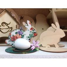 """Заготовка из фанеры """"Подставка для Пасхального яйца """"Кролик"""""""