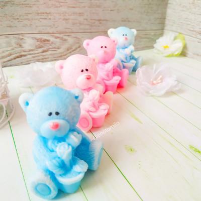 """""""Мишка с цветами"""", силиконовая форма для мыла""""Артобус"""""""