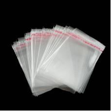 Пакет прозрачный со скотчем. Размер 6х6 см