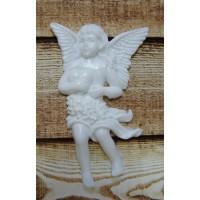 """Акриловое украшение """"Ангел №1"""". Цвет белый."""