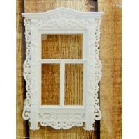 """Акриловое украшение """"Ажурное окно"""". Цвет белый."""