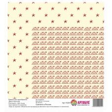 Бумага для скрапбукинга двухсторонняя 30х30 см. Арт.70201