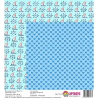 Бумага для скрапбукинга двухсторонняя 30х30 см. Арт.704575