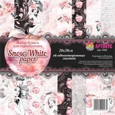 """Набор бумаги для скрапбукинга 20х20 см """"Snow White paper"""" Арт.5265"""
