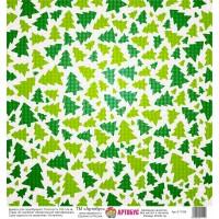 Бумага для скрапбукинга 30*30 см арт.  31196 180 г./м.кв.