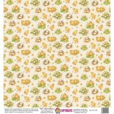 Бумага для скрапбукинга 30*30 см арт. 312109 180 г./м.кв.