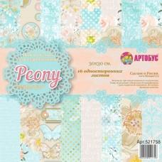 "Набор бумаги для скрапбукинга "" Peony "" 30х30 см арт. 521758"