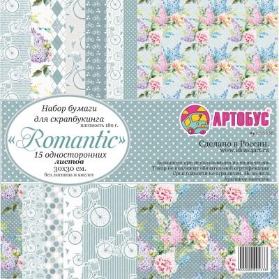 "Набор бумаги для скрапбукинга "" Romantic"" 30х30 см арт. 55338"