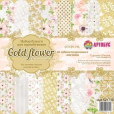 """Набор бумаги для скрапбукинга """" Gold flower"""" 30х30 см арт. 521710"""
