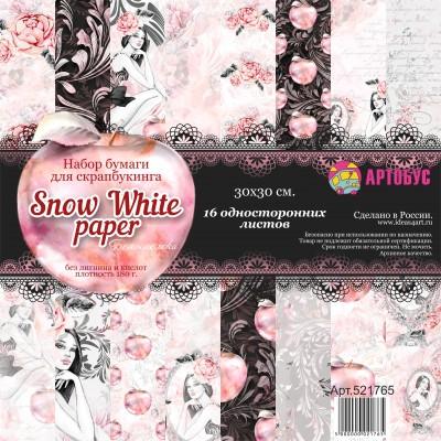 """Набор бумаги для скрапбукинга """" Snow-White-paper"""" 30х30 см арт. 521765"""