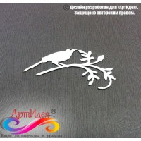 "Чипборд картонный ""Птичка"" Арт. Ч0006"