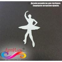 """Чипборд картонный """"Балерина"""" Арт. Ч0025"""
