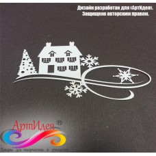 """Чипборд картонный """"Новогодние узоры №2"""" Арт. Ч0003"""