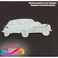 "Чипборд картонный ""Автомобиль ретро №1"" Арт. Ч0001"