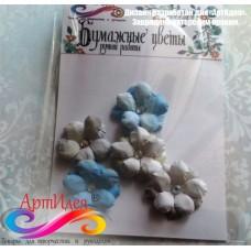 """Цветы из бумаги ручной работы для скрапбукинга """"АРТОБУС"""" Арт.4087"""