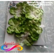 Цветы из бумаги ручной работы  Гортензия зеленая, диаметр 3,2 см.  10 шт.