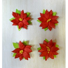 Цветы из бумаги ручной работы для скрапбукинга. Пуансетия 5 см. АРТОБУС