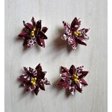 Цветы из бумаги ручной работы для скрапбукинга. Пуансетия 5 см. Print АРТОБУС