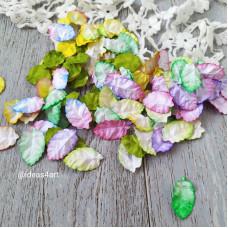 """Цветы для скрапбукинга """"Листья цветной микс"""", диаметр 2 х 3 см 10 шт."""