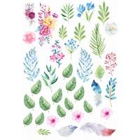 """Вырубки для скрапбукинга """"Акварельная весна""""  арт. 1137"""