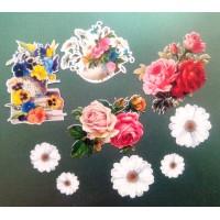 """Вырубки для скрапбукинга """"Садовые цветы"""" арт. 2860"""