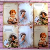"""Набор карточек для скрапбукинга """"Ретро"""" арт. 242349"""