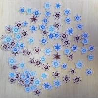 """Высечки (вырубки) для скрапбукинга и декора """"Снежинки"""" Арт. 393765"""