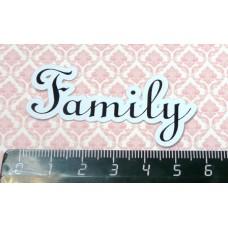 """Вырубки (высечки) для скрапбукинга """"Family""""  набор 5шт Арт.5874"""
