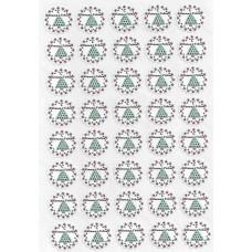 """Этикетки на клеевой основе """"Новый год"""" арт. 12344"""